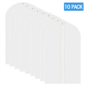 Garment Cover Bag Clear Plastic Hanging Garment Bags with Durable Full Zipper for Clothes Storage and Travel LOFTER Garment Bags for Storage 6 Packs
