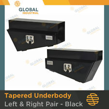 1 x Pair of BLACK steel Tapered Under Body Under Tray Ute 4x4 Tool Boxes TB0052