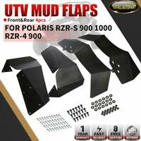 4x Mud Flaps Splash Guard Fender Flares for Polaris RZR-S 900 1000 RZR-4 900 UTV