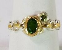 Ladies  Handmade Chrome Diopside 925 Sterling Silver Ring Size 9