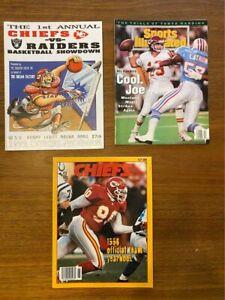 Vintage Kansas City Chiefs magazines/programs
