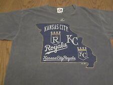 Kansas City Royals Majestic Brand Awesome Prewashed T-Shirt-Large Missouri Kc
