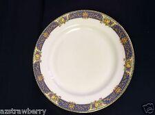 "J Pouyat JP LIMOGES  France W lot of 2 9"" plate china cobalt blue gold scroll"
