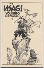USAGI YOJIMBO SKETCHBOOK #9 SIGNED STAN SAKAI / NEW SDCC 2012 includes sketch!