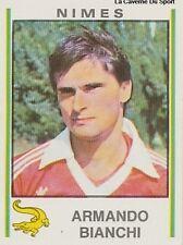 N°229 ARMANDO BIANCHI NIMES OLYMPIQUE VIGNETTE PANINI FOOTBALL 81 STICKER 1981