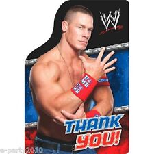 WWE WRESTLING THANK YOU NOTES (8) ~ Birthday Party Supplies Stationery Cards
