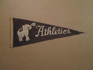 MLB Philadelphia Athletics Vintage 1950's Logo Pennant