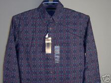 Best Chereskin LS Shirt Navy Blue Burgundy M Men's Clothing New NWT