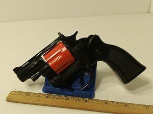 VINTAGE 1991 TOOTSIE TOY 12 SHOT CAP GUN REVOLVER SNUB NOSE WORKS!