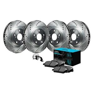 Brake Rotors FRONT ELINE DRILLED SLOTTED SONATA 2003 without ABS