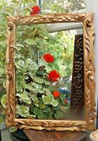 Vintage Rococco Style Gilded Carved Beech Wood Picture Frame Handmade in India