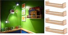 IKEA 4 wooden spice rack nursery book holder bath kitchen storage shelf BEKVAM