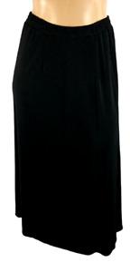 Halston black pull on elastic waist women's stretch plus size midi skirt 1X