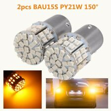 2pcs 12v 1156 BAU15S PY21W 150° 50 SMD LED Tail Turn Signal Light Bulb Yellow