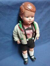 "Vintage German Schildkrot doll celluloid original clothes intact radiant 14"""