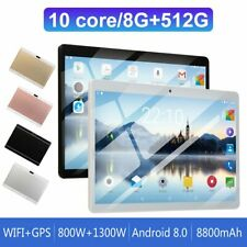"10.1"" WIFI Tablet Computer Android 8.0 HD 8G+512G 10 Core PC GPS+ Dual Camera"