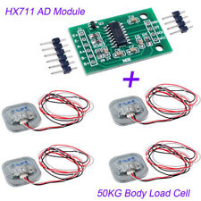 4 X 50KG Body Load Cell Resistance Strain Weight Sensor with/HX711 AD Module Set