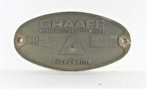 Original Waggonschild GRAAF Kommanditgesellschaft Elze/Leine 1981