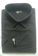 "New Carabou Black Short Sleeve Shirt 2XL - 4XL (18.5"" - 20"" Collar)"