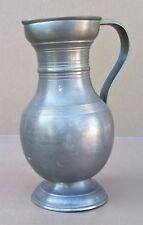 Pichet en étain 97% déco cuisine vintage campagne rustique jug pitcher tin #2