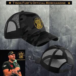 Exclusive Tyson Fury Gypsy King Black Camo & Gold Original logo Embroidered cap.