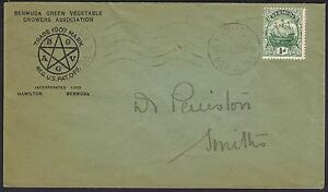 Bermuda 1922 1/2d Green Vegetable Growers Advertising Envelope local usage.