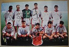 A 18 x 12 pollici foto personalmente firmato da Paul Ince, Mike phelan, Gary pallister
