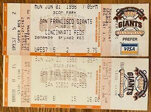 SAN FRANCISCO GIANTS v SAN DIEGO AND CINCINNATI 1998 SEASON selling others too