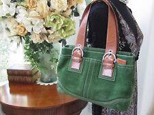 Coach Purse Handbag Suede Leather & Leather Made in China