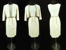 1950s Mollie Parnis White Sleeveless Cocktail Dress with Jacket-Jackie-O Style