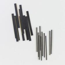 2.54 Mm 1x40 Pin Header de hilera simple (recto Macho + Mujer Para Arduino hágalo usted mismo 10 Par
