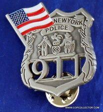 9-11 NY POLICE OFFICER MINI BADGE PIN