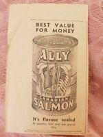 Ally Canadian Salmon - 1940 Advertisement