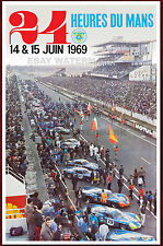 1969 24 Heures Du Mans Alpine Renault Vintage Advertising Race Poster 11 x 17