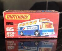 MATCHBOX LESNEY Model Car In Box Airport Coach #65 MINT