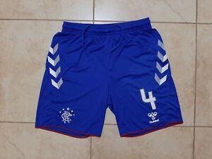 Rangers Home 2018/19 Football Shorts Hummel Scotland Player Issue # 4 Dorrans