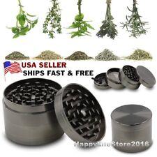 4 Piece Grinder, Tobacco Herb Spice WEE D-Crusher, 2 Inch Zinc Alloy Smoke Metal