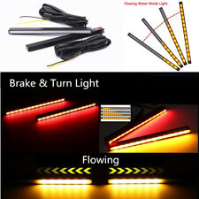 2x Aluminium Switchback 29 LED Brake Stop Light DRL + Amber Flowing Turn Signal