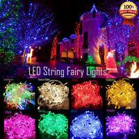 10M 100LED Warm White String Fairy Wedding Light Lamp Christmas Party Decoration