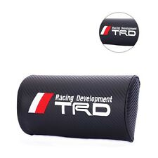 2pcs Carbon Fiber Car Racing Embroidery Neck Pillows Headrests For New