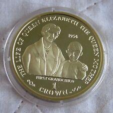Gibilterra 2001 vita della Regina madre a prova di Argento placcato Oro Corona