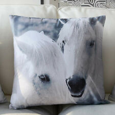 45 x 45cm Retro Vintage Premium Black/White Horse Photograph Cushion Cover- C