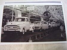 1953 FORD ASSEMBLY LINE  PICKUP CARS   11 X 17  PHOTO   PICTURE