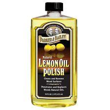 More details for parker & bailey natural 16oz lemon oil guitar rosewood fretboard cleaner polish