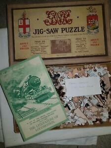 Antique Chad Valley 1930s Great Western Railways Jigsaw Puzzle Complete