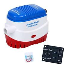 Automatic Submersible Boat Bilge Water Pump 750gph & LED Rocker Switch Panel US