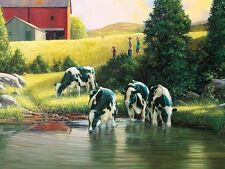 """Holsteins Cow 500 pieces Jigsaw Puzzle Made in USA 18"""" x 24"""""""