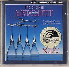 Reicha - Schweitzer Quintet: Complete Wind Quintets, Vol. 10 (CPO) Like New