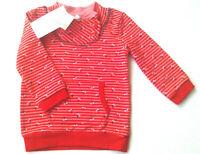 Sweat Shirt Gr.86 Topomini NEU rot rosa gestreift kirschen warm pullover baby