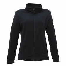 Ladies Regatta Professional Trf565 Micro Full Zip Fleece Jacket Navy Blue Uk14